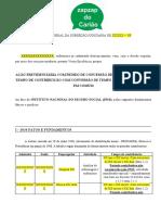 MODELO - APOSENTADORIA POR TEMPO DE CONTRIBUIÇÃO COM TEMPO ESPECIAL CONVERTIDO ENFERMEIRA
