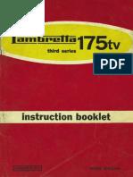Lambretta 175 TV - Owners Manual - #3676