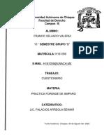 CUESTIONARIO AMPARO