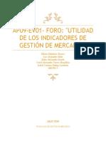 AP09-EV01- FORO UTILIDAD DE LOS INDICADORES DE GESTIÓN DE MERCADEO