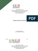 Ejemplo informe de practicas en servicio pineda