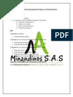 DOCUMENTACION REQUERIDA PARA LA CONTRATACION