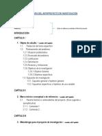 Estructura Del Anteproyecto de Investigación