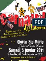 Carnaval d'Auloron - Programme du 5 février 2011