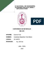 EXAMEN FINAL DE CONFORMADO DE MATERIALES-CASTAÑEDA