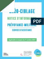 Notice d'information Uneo-Ciblage Prévoyance-Militaire