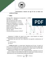 Ejercicio Dimensionamiento viga 1 tramo con análisis de carga