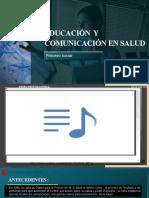 Educación  y comunicación en salud GRPO 2FIN