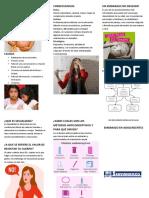 FOLLETO EMBARAZO EN ADOLECENTES
