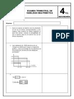 EXAMEN DE HABILIDAD MATEMÁTICA - 4º(A)