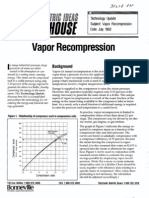 Vapor recompression