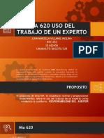 NIA 620 USO DEL TRABAJO DE UN EXPERTO