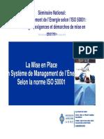 ISO 50001 EXIENCES