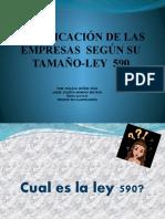 Clasificación de las  empresas  según su tamaño-ley  590.pptx