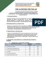 ESPECIFICACIONES TÉCNICAS PLAN COVID