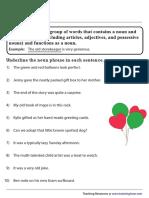 noun-phrases worksheet
