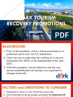 CLARK TOURISM RECOVERY PLAN