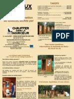"""Brochure """"Copeaux Dans La Noirceur"""" 2010"""