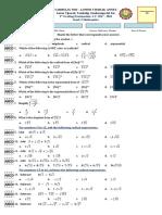 Grade 9 Math Exam 3rd