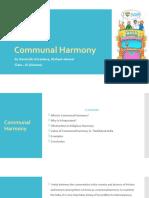 Communal Harmony