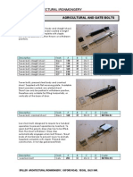 Agricultural and Gate Bolts