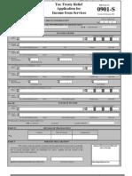 Tax Treaty Forms 0901 Series