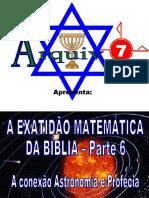 120 - A EXATIDÃO MATEMÁTICA DA BÍBLIA - Parte 6
