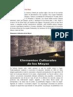Elementos Culturales de los Maya