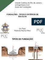 ENG 1228 Fundações - Tipos e Critérios de Escolha - 3