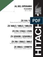 Manual Del Operario hitachi zx350-1