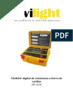 Manual del Usuario Medidor de Resistencia de Puesta a Tierra
