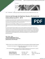 Informe de Mercado de Cambios, Deuda y Formación de Activos Externos 2015 - 2019 _ BCRA
