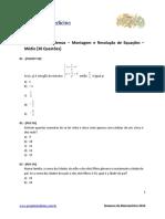 montagem de resoluções - projeto medicina Nvl médio
