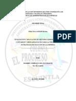 Contenido Del Informe Para La Realizacion de La Práctica Del Ultimo Año de La Carrera de Perito en Administracion de Empresas