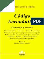 Codigo Aeronautico Comentado. Eduardo Balian