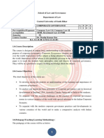 Company Law Syllabus