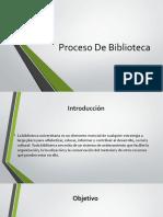 Proceso De Biblioteca