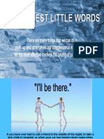 Amazing Power of 3 Words