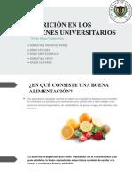 NUTRICIÓN EN LOS JOVENES UNIVERSITARIOS