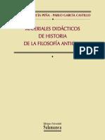 MATERIALES DIDÁCTICOS DE HISTORIA DE LA FILOSOFÍA ANTIGUA