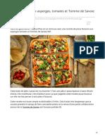 cuisinemoiunmouton.com-Pizza-focaccia aux asperges tomates et Tomme de Savoie IGP