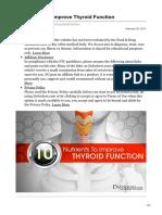 Alimente Pentru Imbunatatirea Functiei Tiroidiene