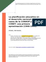 Arbelo, Hernando (2017). La planificacion educativa en el desarrollo nacional. Los casos de la CONAOP y el CONET una primera aproximacion (..)