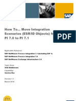 How to Move Integration Scenarios (ESR ID Objects) from PI 7_0 to PI 7_1