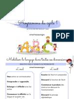 Programme cycle1