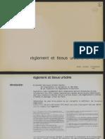 Reglement et tissus urbains a Paris (1973)