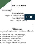 Unit 7 Health care Team
