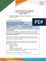 Guia de actividades y Rúbrica de evaluación