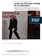 AMLO. Pide intervención de FGR por toma de La Boquilla en Chihuahua - EL UNIVERSAL 09.09.2020