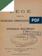 Lege Bucuresti 1926